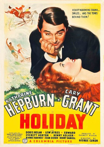 Holiday, Cary Grant, Katharine Hepburn 1938. Vintage Film/Movie Print/Poster. Sizes: A4/A3/A2/A1 (002817)